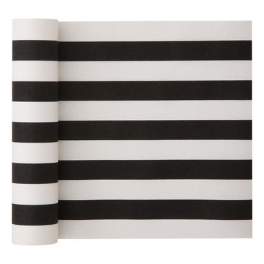 MYdrap - Cotton Striped Napkins, Black Stripe, Roll of 12 - - MYdrap Cotton Printed Luncheon Napkins on a Roll are made of 100% cotton.