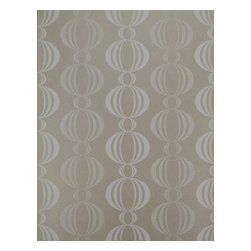 "Kenneth James - Azhar Taupe Retro Orb Wallpaper, Bolt - This wallpaper is unpasted non-woven material and is 20.5"" x 33' with a straight match and a 5.25"" repeat."