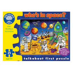 "The Original Toy Company - The Original Toy Company Kids' Who's in Space? Puzzle - This colorful Space jigsaw includes an activity guide to help encourage your child's development. Ages: 3 years plus. Pieces: 25 Reference guide included. Puzzle size: 16.5""x12"" Gender: Both Weight: 1 lbs."