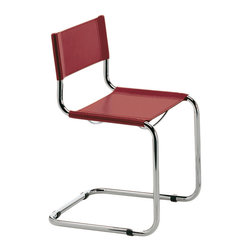 Eurostyle - Ital Modern Sabrina Side Chair in Cherry [Set of 2] - Side Chair in Cherry belongs to Sabrina Collection by Eurostyle From the little rubber feet to the tailored fit of the seat and back, the Sabrina Side Chair is a symbol of craftsmanship and style. If you��_�re looking for a chair that is always just right, why not purchase an icon. In black or white leather and chrome. Side Chair (2)