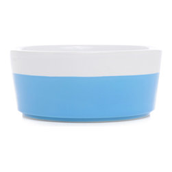 Waggo - Ceramic Dog Bowls, Cerulean, Small - Splash into Summer with our Dipper Bowl colors! These hand-dipped ceramic dog bowls add the perfect amount of color to your home.