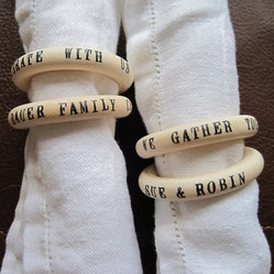 Custom Table Talk Napkin Rings