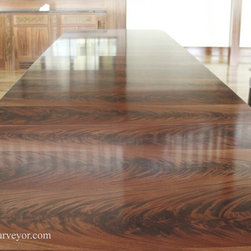 10-18ft Mahogany Triple Pedestal American Made Dining Room Table (LH HC 120 216) - This large table can open up to 18 feet and can sit as many as 22 people.
