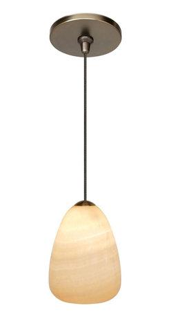 LBL Lighting - LBL Onyx Teardrop Bronze Pendant Light -