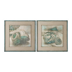 Uttermost - Uttermost Coastal Gems Framed Art, Set of 2 - 51084 - -Uttermost's coastal art combines premium quality materials with unique high-style design.
