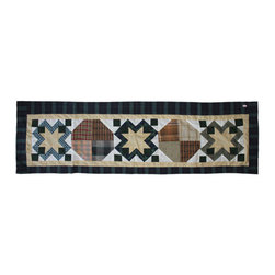 Patch Quilts - Pioneer Diamond Curtain Valance 54 x 16 - - Beautiful patchwork Valance.Window Treatments for ensemble and Bedding items from Patch Magic  - Machine washable.Line or Flat dry only Patch Quilts - CVPIOD
