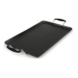 "EPOCA - Artistry 12"" x 18"" Double Burner Griddle - Black - Ecolution Artistry Double Burner 12 x 18 Inch Griddle"
