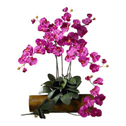 Phalaenopsis Silk Orchid Flower with Leaves (Set of 6), Beauty - Our Nearly Natural Phalaenopsis Silk Orchid Flower with Leaves have it all - established flowers, newly opening flowers, buds, leaves, and even aerial roots - everything you need to craft your own silk arrangements highlighting these beautiful flowers. Place your order today and get ready to put your talent to use! Color: Beauty, Height: 31 in, Number of Stems: 6. Height= 31 in x Width= 8.5 in x Depth= 3 in