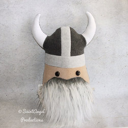 Stuffed Viking Warrior Gray Beard Pillow Plush by Saint Angel Productions - This guy pulls double duty as decor and toy. Old Graybeard is sure to become a special favorite!