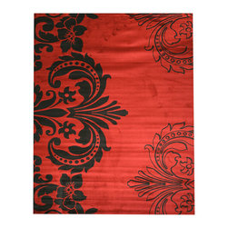 EORC - OS2770RD Red Sofia Rug, 9'2 x 12'3 - Add a touch of elegant beauty to your home with this stylish modern rug. This stunning area rug is offered in a time-honored traditional pattern