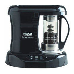 Metal Ware Corp. - Nesco Professional Coffee Bean Roaster - Nesco Professional Coffee Bean Roaster. The Nesco pro coffee Bean roaster is a coffee enthusiast's dream bringing the freshness and quality of roasting fresh gourmet coffee to your home. Nesco's Patented Catalytic Converter is the beginning of a new era in coffee history and a major step in the return of great tasting coffee to your home. Once you've experienced the flavor of fresh gourmet coffee roasted like this you'll want to share it with everyone you know. You'll be surprised to learn how fast and easy it is to roast your own specialty coffee beans right at home. Roaster creates an even roast and uniform color while controlling the roast from light to dark. It is fast and economical roasts a batch of beans in less than 20 minutes at half the cost of store-bought. Craft your own signature coffee from your favorite bean combination achieve a wide range of distinct flavors. It's fun and easy. Roast up to 1/3 lb of Beans in only 20 to 30 Minutes that's enough for 36 cups of Coffee.