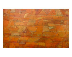 "Original Abstract Painting, Gold and Bronze Painting, ""Cancion de la Tierra"" - Cancion de la Tierra"