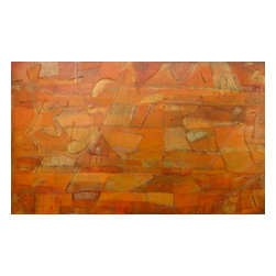 """Original Abstract Painting, Gold and Bronze Painting, """"Cancion de la Tierra"""" - Cancion de la Tierra"""