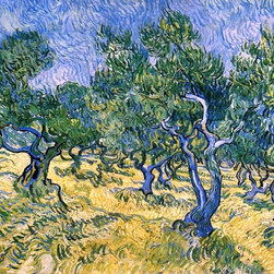 "Vincent Van Gogh Olive Grove - 16"" x 20"" Premium Archival Print - 16"" x 20"" Vincent Van Gogh Olive Grove premium archival print reproduced to meet museum quality standards. Our museum quality archival prints are produced using high-precision print technology for a more accurate reproduction printed on high quality, heavyweight matte presentation paper with fade-resistant, archival inks. Our progressive business model allows us to offer works of art to you at the best wholesale pricing, significantly less than art gallery prices, affordable to all. This line of artwork is produced with extra white border space (if you choose to have it framed, for your framer to work with to frame properly or utilize a larger mat and/or frame).  We present a comprehensive collection of exceptional art reproductions byVincent Van Gogh."
