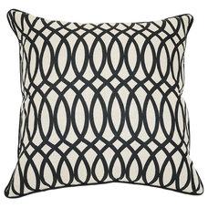 One Kings Lane - A Palette We Love - Geo 22x22 Cotton Pillow, Black