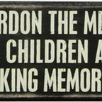 Box Sign - Pardon The Mess - The Message: Pardon the mess my children are making memories