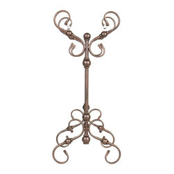 "Holly & Martin - Holly & Martin Carlisle Blanket Rack X-30-4-210-850-35 - Exquisite antique styling wrapped in a burnished bronze finish creates this gorgeous blanket rack. Perfect anywhere from living room to bedroom, the function of such a wonderful piece is a welcome addition to any room.  - 28.5"" W x 14"" D x 32"" H                                                                               - Hanging bars: 25.5"" W                                                                                 - Antique bronze finish                                                                                 - Durable metal construction                                                                            - Assembly required"
