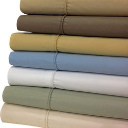Bed Linens - Wrinkle Free 650 TC Egyptian Cotton Sheet Sets Full Taupe - Enjoy the best of both worlds, Egyptian cotton comfort blended with the strength and wrinkle free of polyester. This top rated linen was crafted with 70% of long staple Egyptian cotton & 30% of high strength Microfiber Polyester. Enjoy the extended life span of Egyptian cotton comfort without wrinkles.