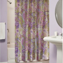 Greenland Home Fashions Portia Paisley Shower Curtain - Why would anyone ever go back to basic white shower curtains when they could have the Greenland Home Fashions Portia Paisley Shower Curtain in their bathroom? This playful curtain sets a new standard for what shower curtains can be. Its vivid, visual style makes your washroom the place to be. This polyester/microfiber curtain is designed to fit standard showers.About Greenland Home FashionsFor the past 16 years, Greenland Home Fashions has been perfecting its own approach to textile fashions. Through constant developments and updates - in traditional, country, and more modern styles – the company has become a leading supplier and designer of decorative bedding to retailers nationwide. If you're looking for high-quality bedding that not only looks great but is crafted to last, consider Greenland.