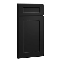 Dayton Door | Painted Carbon Finish | CliqStudios.com Kitchen Cabinets - Dayton's shaker-inspired, recessed-panel doors and drawer fronts are reminiscent of true arts and crafts character that is exceedingly popular today. Crisp lines and simple styling make Dayton adaptable to any lifestyle.