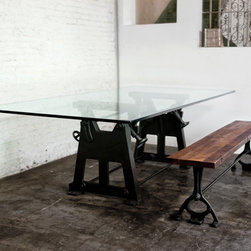 Industrial styled furniture from District Eight Design - http://www.districteightdesign.com