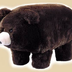 Aspen Bear Footstool - Have you ever spent a long night up with your little one? I would love to have a place to rest my feet in my child's room, and this bear is so cute that your child will love it too.