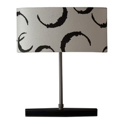Ziqi Home - Seline - Yet another way to incorporate the richness of leather into your decor. This stylish table lamp features an iron base wrapped in hand-stitched faux leather and topped with a lively linen shade.