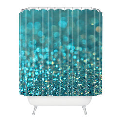 DENY Designs - Lisa Argyropoulos Aquios Shower Curtain - Who says bathrooms can't be fun? To get the most bang for your buck, start with an artistic, inventive shower curtain. We've got endless options that will really make your bathroom pop. Heck, your guests may start spending a little extra time in there because of it!