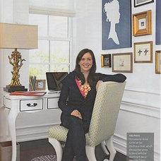 Eclectic  Anna Kohler's home office (via Caitlin Creer Interiors blog)