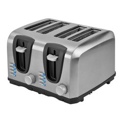 Kalorik - Kalorik 4 Slice Stainless Steel Toaster Multicolor - TO 37896 SS - Shop for Toasters from Hayneedle.com! About KalorikEstablished in Belgium in 1930 Kalorik has become synonymous with fine engineering and unique product development. As one of Europe's first manufacturers of small electric appliances the company's initial product was one of the very first electric toasters. With this well-recognized achievement and a thirst for new invention the company established offices in the U.K. Germany and Switzerland to further innovate and design new and exciting products.Today Kalorik is a second-generation industry leader. Its passion to create superior products is a guiding force in the company's commitment to new trends in product development meticulous care for detail and maintenance of cutting-edge manufacturing facilities. It is this careful balance combined with Kalorik's experience and traditional values that has led to the company's worldwide success.
