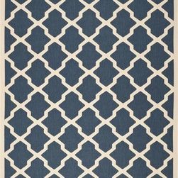 "Safavieh - Safavieh Courtyard CY6903-268 7'10"" Square Navy Rug - Safavieh's Courtyard collection was created for today's indoor/outdoor lifestyle. These beautiful but practical rugs take outdoor decorating to the next level with new designs in fashion-forward colors and patterns from classic to contemporary. Made in Turkey with enhanced polypropylene for extra durability, Courtyard rugs are pre-coordinated to work together in related spaces inside or outside the home."
