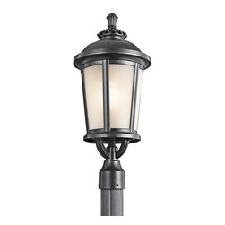 Kichler Lighting - Kichler Lighting Ralston Transitional Outdoor Post Lantern Light X-KB31494 - From the Ralston Collection, this Kichler Lighting outdoor post lantern light is constructed of cast aluminum and satin etched glass, ensuring it will last for years to come. The Painted Black finish on this post light accentuates the gentle tapering while also allowing the eye to drift upward toward the traditional finial and other eye-catching details.