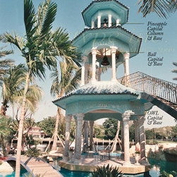 01.01  Intercoastal Waterways/ Fort Lauderdale Residence/ Tarpon Point - 3 Story Balinesian Styled Carillon Bell Tower/ Architecture by Robert Tuthill/ Tuthill Architecture, Construction by Craig Charles, Landscape by George Kean/ George Kean Landscape Architecture