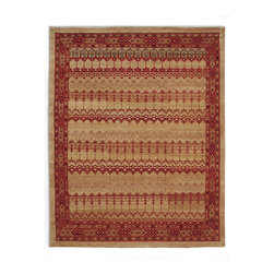 Frontgate - Almansa Area Rug - Hand-knotted in Tibet. 100% hand-spun wool. Vegetable dyed for purity of color. Rich, yet restrained, our Almansa Area Rug pays homage to the geometric tiles of the famous Moorish palaces of Spain. An extremely fine, 150-knot weave is used to recreate the extraordinary mosaic work originally found in the Spanish province of Andalusia.  .  .  .