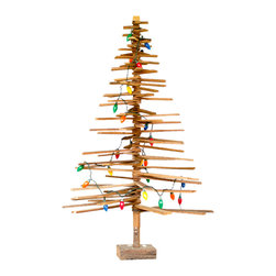 Reclaimed Plank Tree - Have an eco-friendly Christmas with this quirky, rustic tree. It's branched with recycled wood planks ready for dressing upor downhowever you please.