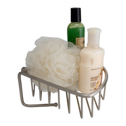 Solid Brass Corner Basket with Hook - Perfect for keeping your shower items organized, the Solid Brass Corner Basket features a hook that is perfect for hanging washcloths or bath sponges. This basket is made of solid brass and mounts in the corner of your shower or bathroom wall.