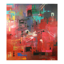 'Time Square' Original Painting - Original acrylic abstract painting created on canvas.