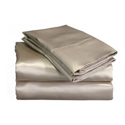 Charmeuse II Mocha Satin Sheet Set - OK, so satin sheets might get a bad wrap, but did you know that they're better for your hair? I've heard that satin sheets help strands slide around easier at night and reduce breaking and splitting. I'm at least going to switch to satin pillowcases!