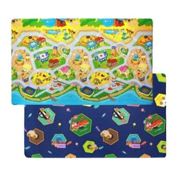 """Dwinguler - Floor Mat: 4' 6"""" x 7' 6"""" My Town Play - Shop for Flooring at The Home Depot. Create a perfect place for your children to roll, crawl and toddle. Our kids cushioned play mat provides a soft and safe play area for your kids. Our product is tested to US and European safety standards, and made with Phthalate free materials. On the surface, there are vivid colored pictures with friendly characters, letters, and numbers for sensory and educational development of your children. The cushion of the mat absorbs footsteps noise of your children while blocking the chilliness from the cold floor. Not being inhabitable for ticks and worms, it helps to protect children's health."""