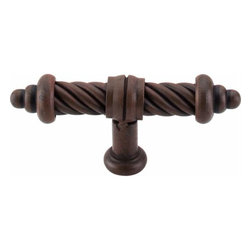 Top Knobs - Top Knobs: T-Shaped Twist Knob 3 5/8 Inch - Patina Rouge - Top Knobs: T-Shaped Twist Knob 3 5/8 Inch - Patina Rouge