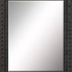 Paragon Decor - Beveled Mirror, Ornate Antiqued Dark, 22x28 - Mirror, Mirror, on the wall, who's the most beautiful mirror of them all? Reflect your impeccable taste with this traditional-style mirror, which features a gorgeous ornate antiqued dark frame and high-quality interior beveled mirror. This piece measures 30 inches wide, 2 inches deep, and 36 inches high.