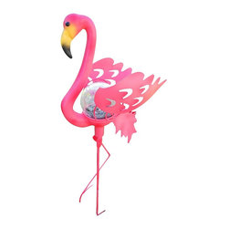 Pink Flamingo Garden Stake Solar Light - Flamingos are all the rage this season. If you have a playful side, add a couple to your garden for a whimsical touch.