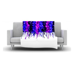 """Kess InHouse - Claire Day """"Drops"""" Purple Fleece Blanket (60"""" x 50"""") - Now you can be warm AND cool, which isn't possible with a snuggie. This completely custom and one-of-a-kind Kess InHouse Fleece Throw Blanket is the perfect accent to your couch! This fleece will add so much flare draped on your sofa or draped on you. Also this fleece actually loves being washed, as it's machine washable with no image fading."""