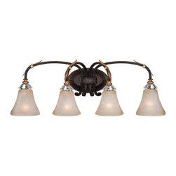 Metropolitan - Metropolitan N2694-258B Bella Cristallo 4 Light French Bronze Bath Light - Features: