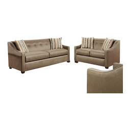 Chelsea Home Furniture - Chelsea Home Brittany 2-Piece Living Room Set in Stoked Pewter - Brittany 2-Piece living room set in Stoked Pewter belongs to the Chelsea Home Furniture collection