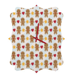 DENY Designs - DENY Designs Marceline Smith Cookie Cute Quatrefoil Clock - Tick tock, tick tock. When time feels like it's standing still, check out DENY's Quatrefoil Clock. Paired with the art of your choice, this Quatrefoil Clock is just what you need to make the day go by just a little bit faster.