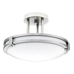 "LITHONIA LIGHTING - Semi-Flush Ceiling Fixture 13"" Diameter White Lens - Features:"