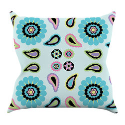 """Kess InHouse - Nina May """"Paisley Candy"""" Paisley Flower Throw Pillow (16"""" x 16"""") - Rest among the art you love. Transform your hang out room into a hip gallery, that's also comfortable. With this pillow you can create an environment that reflects your unique style. It's amazing what a throw pillow can do to complete a room. (Kess InHouse is not responsible for pillow fighting that may occur as the result of creative stimulation)."""