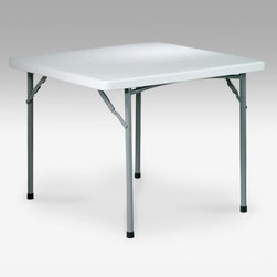 Office Star Products 36 in. Square Resin Folding Card Table - Light Gray - If you know when to fold 'em you can fold up this whole darn table if you need to! The Office Star 36-Inch Square Resign Folding Card Table is a lightweight yet sturdy must-have. With a tubular steel frame and legs and 45mm thick plastic resin top all finished in light gray this card table will serve you well for a multitude of uses from poker night to picnics to work spaces. It'll hold up to 250 pounds yet folds up compact to only 1.5 inches flat. A great anytime any-use table to have on hand. About Office Star ProductsOffice Star Products is engaged in the fabrication importation and distribution of an extensive range of quality office seating and home furnishing products. Since 1979 the company has developed a distinguished reputation for high quality value and outstanding customer service. With a wide variety of product lines Office Star Products sells furnishings in the largest retail and wholesale chains and through hundreds of regional independent home furnishings dealers.