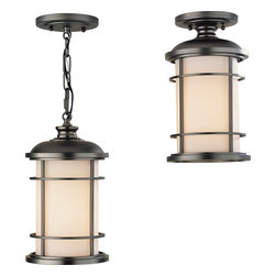 Murray Feiss - Murray Feiss Lighthouse Transitional Outdoor Duo-mount Hanging Lantern X-BB9022L - The simple industrial design of this outdoor hanging light by Murray Feiss makes it ideal for any home. A slightly nautical feel is complemented by burnished bronze finish and opal etched glass shades.